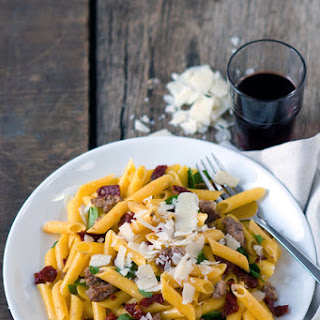 Gluten-Free Penne Pasta with Sun-Dried Tomatoes & Turkey Sausage