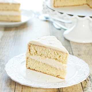Rum Layer Cake with Coconut Rum Frosting.