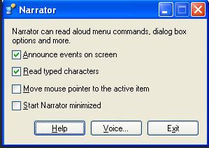 narrator : read aloud