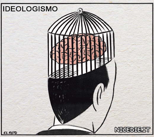 un uomo con un cervello imprigionato in una gabbia per uccellini