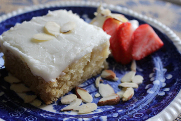 Almond Cake With Almond Icing Recipe