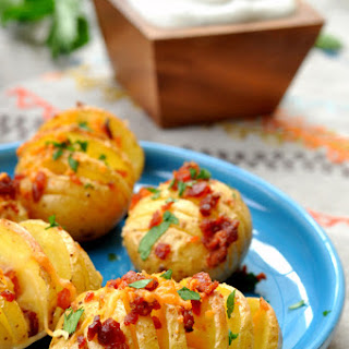 Mini Hasselback Potatoes.