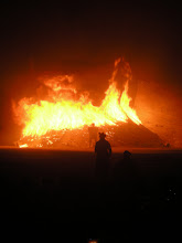 Photo: the Temple burns