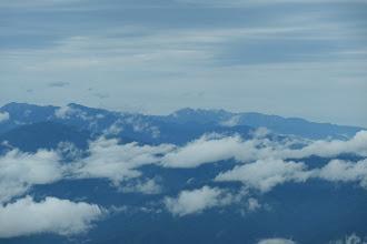 左から大天井岳・常念岳・鹿島槍ヶ岳・白馬岳など