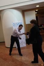 Photo: ... starting soon... Dmitry Sinitsin greeting Olga Bereslavskaya...