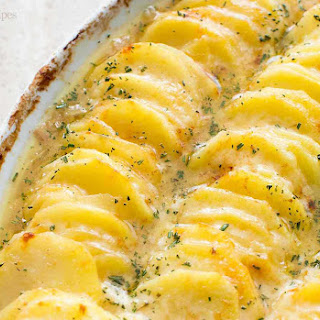 Scalloped Potatoes with Caramelized Onions and Gruyere Recipe