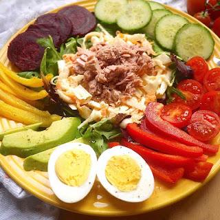 Fresh Tuna Coleslaw Protein Salad (paleo, GF)