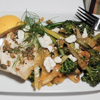 Savory Cod with Fennel, Leeks and Broccolini Recipe