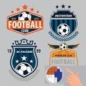 Pixel 3D Football Logo Coloring icon