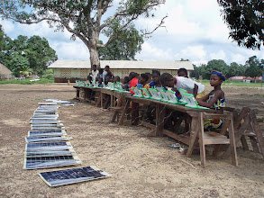 Photo: Solar Panels power XO laptops at Roman Catholic School, Sahn Malen, Sierra Leone