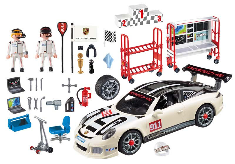 Contenido real de Playmobil® 9225 Porsche 911 GT3 Cup
