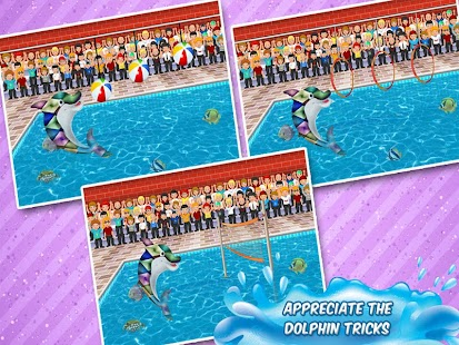 Kids pool party dolphin show android apps on google play for Pool game show