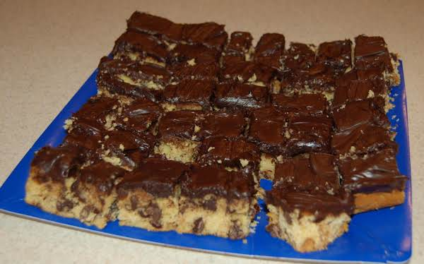 Frosted Chocolate  Cookie Bars Recipe