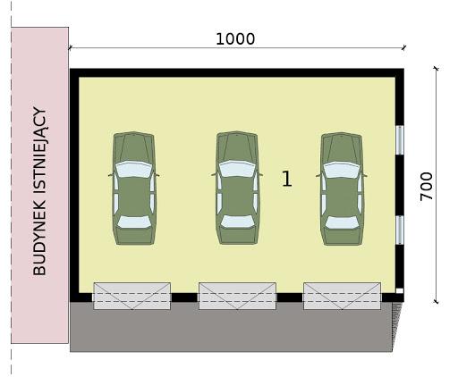 GP13 - Rzut garażu