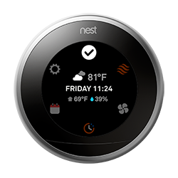 Nest thermostat quick view
