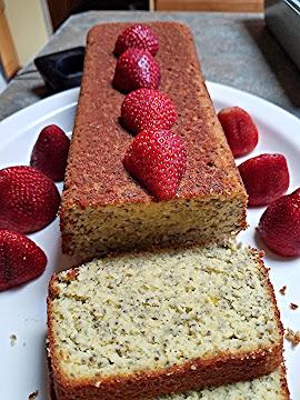 Amaretto Plain Low Carb Loaf Cake Recipe