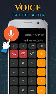 Hlasová kalkulačka - náhled