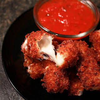 Homemade Fried Mozzarella Sticks.