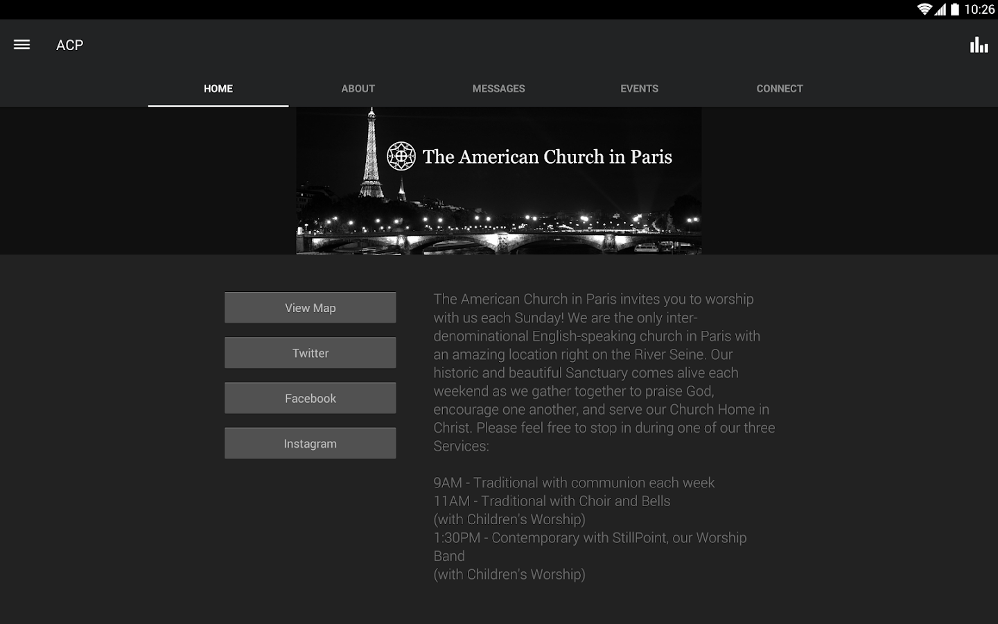 American Church in Paris- screenshot