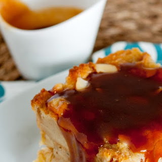 The Apple State Meets the Big Apple Bread Pudding with Salted Bourbon Caramel Sauce