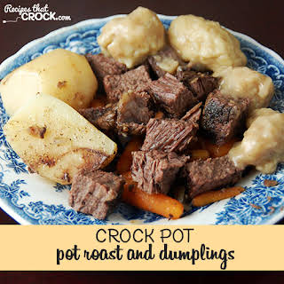 Pot Roast and Dumplings {Crock Pot}.