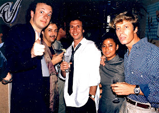 Photo: A Very Serious collection of 80's people! AJJ, Rick O'Shea, DJ Amber & Steve Walker.
