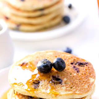 Fluffy Vegan Blueberry Quinoa Pancakes