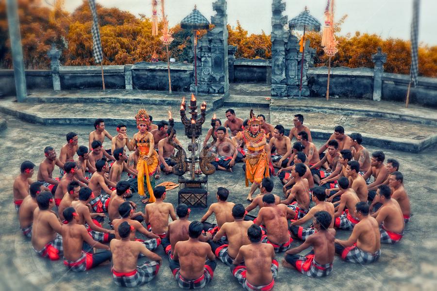 Kecak Dance by Eddy Wiriadinata - People Musicians & Entertainers