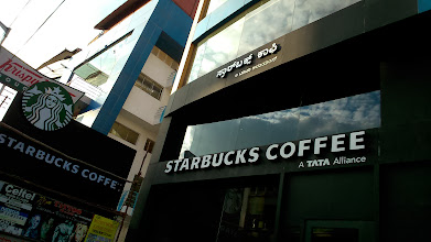 Photo: Of course, Starbucks Coffee is available in Bangalore too, next to Krispy Kreme Doughnuts on Church Street backside of M.G. Road. 26th February updated -http://jp.asksiddhi.in/daily_detail.php?id=466