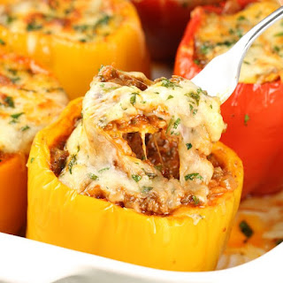 Baked Lasagna Stuffed Peppers.