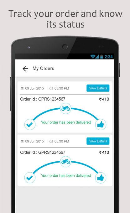 OrderZapp- screenshot