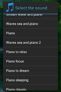 Piano sound to sleep- screenshot thumbnail