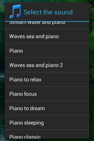 Piano sound to sleep- screenshot