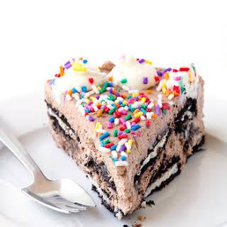 Birthday Cake Oreo Icebox Cake.