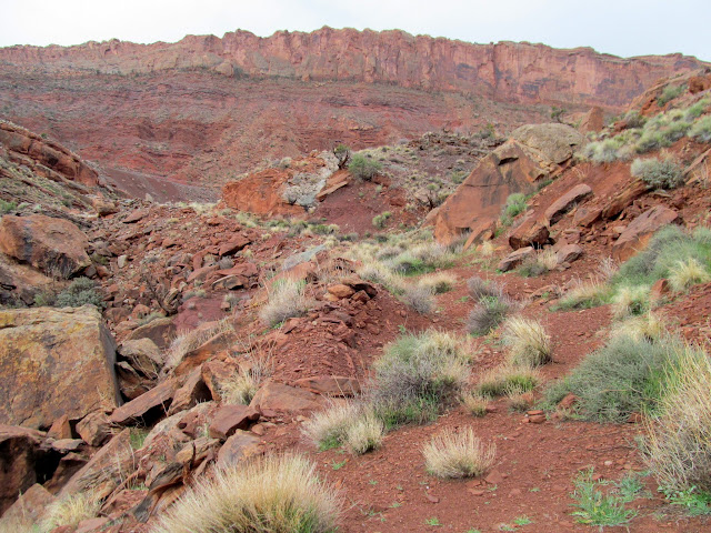 Possibly the original wagon road through Moab Canyon