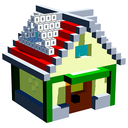 House 3D Color by Number - Voxel, Sandbox Coloring Icon