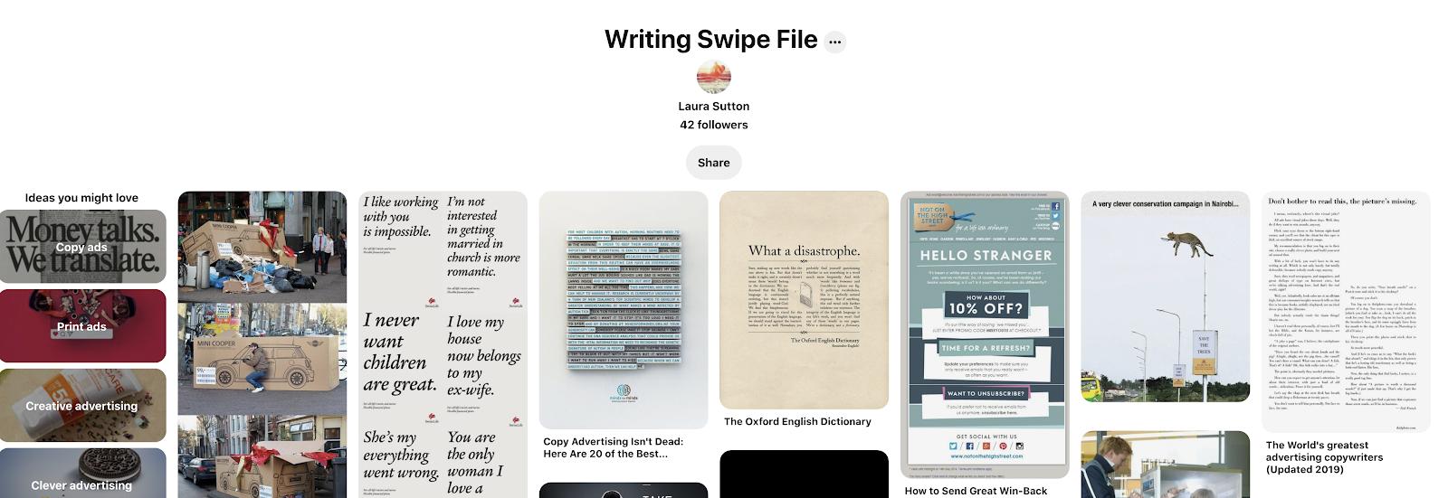 writing swipe file