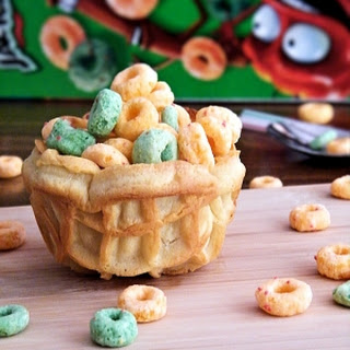 On the Go Cereal Waffle Cups