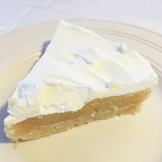 Lemon Curd Shortbread Pie with Whipped Cream