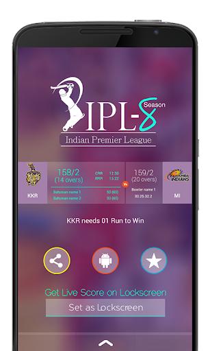 I.P.L. Live Score + LockScreen
