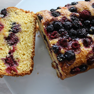 Orange, Mixed Berry and Polenta Loaf