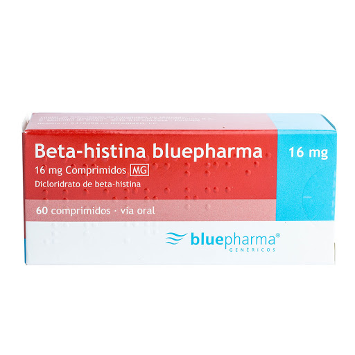 Beta-Histina Bluepharma 16mg x 60 Comprimidos