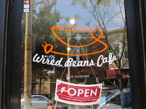 Photo: Wired Beans Cafe, located at 6736 Germantown Avenue in Philadelphia, became the first business to put up a decal.