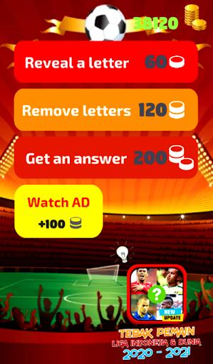 Adivina capturas de pantalla de jugadores de fútbol de Indonesia y la Liga Mundial 7