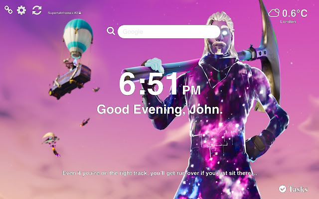 Galaxy Fortnite Skin Wallpapers and New Tab