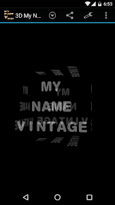 3D My Name Vintage Wallpaper screenshot 1
