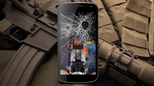 Gun shoot screen lock