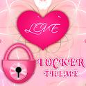 Pink Heart Theme GO Locker icon