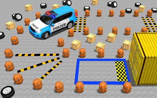 Police Jeep Spooky Stunt Parking 3D apkpoly screenshots 6