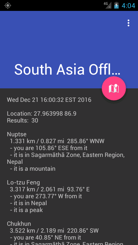 South Asia Offline Location- screenshot